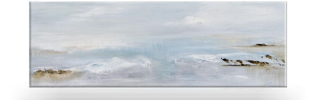 kleiner See im Nebel